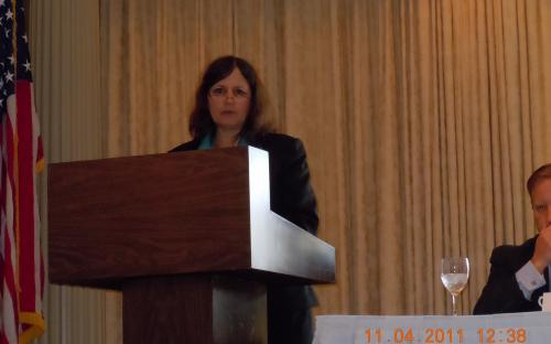 Sue Quimby delivers opening remarks.