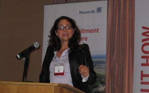 Pina Albo of Munich Re delivers Keynote Speech